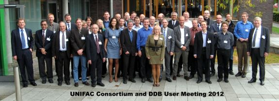 DDBST and UNIFAC meeting 2012